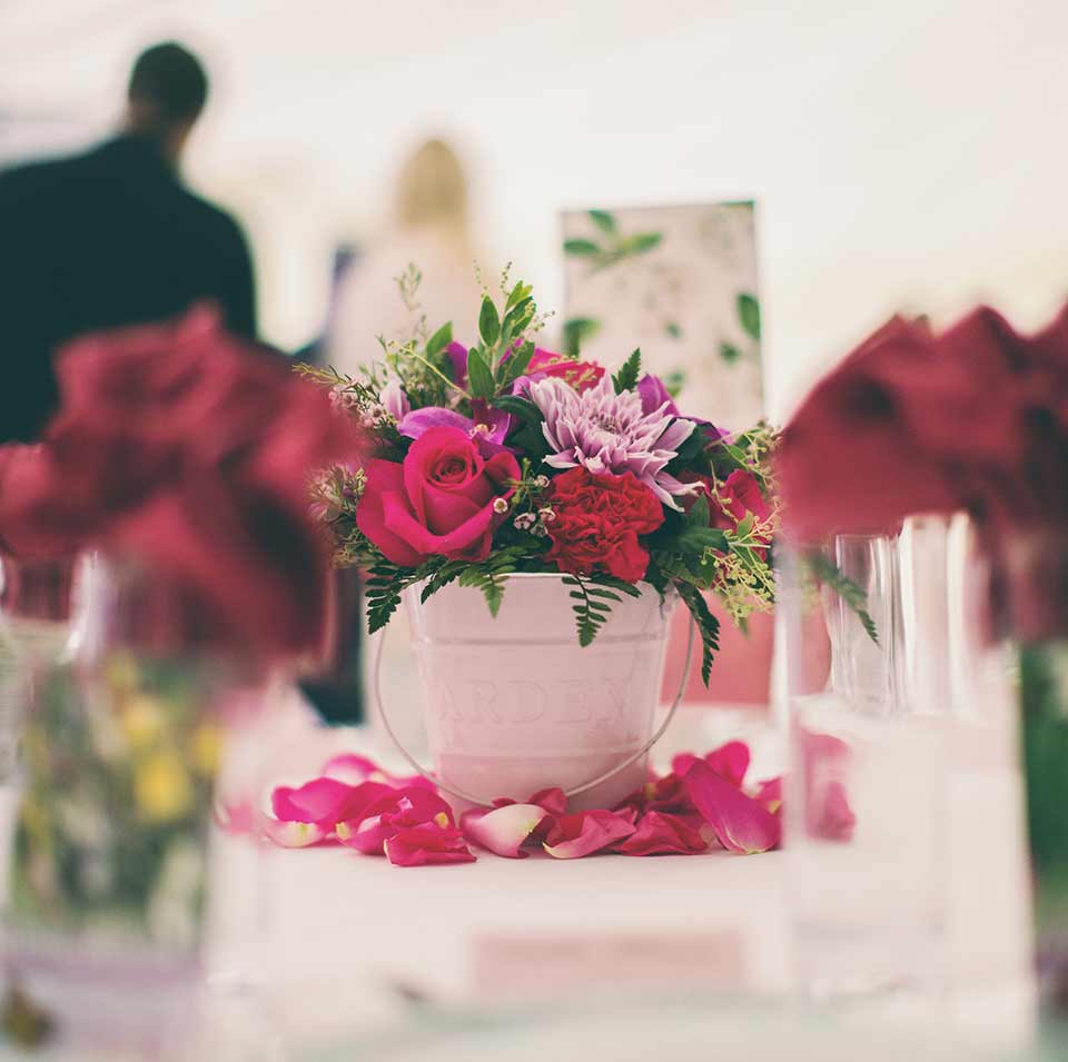 WEDDING TABLE DECORATIONS, tickled pink wedding, hayne house