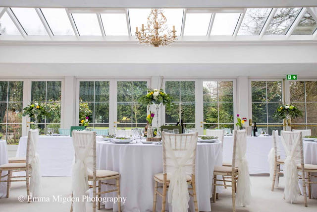 Easter wedding in orangery Hayne House