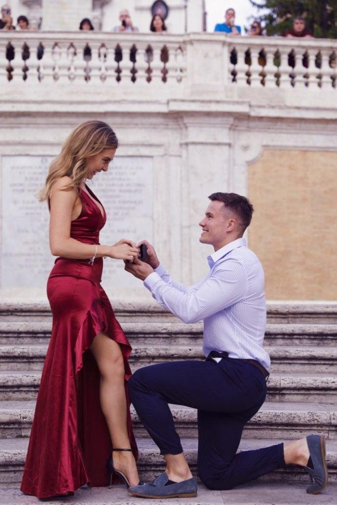 Man proposing to women during the festive wedding season
