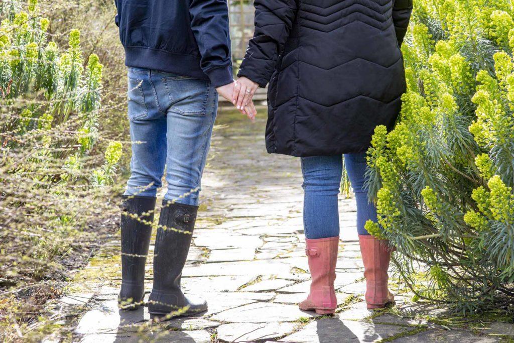 Couple festive engagement